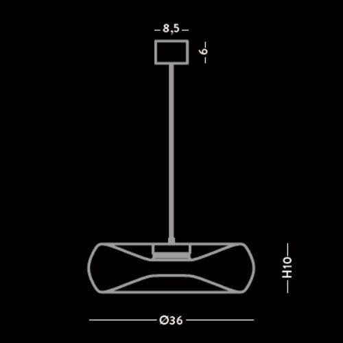 medidas lámpara fold