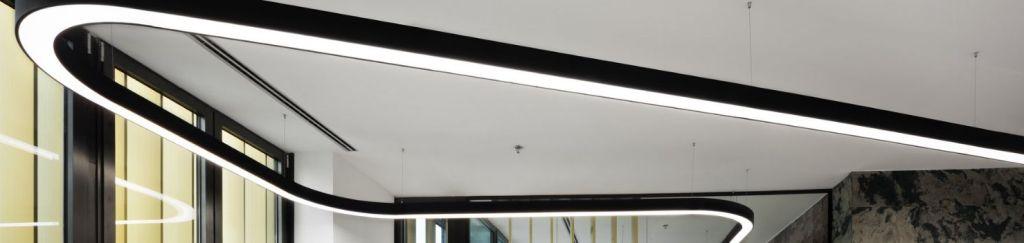 lámpara led lineal curva modelo FLUMO2