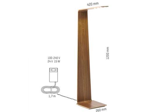 medidas lámpara LED de lectura