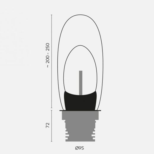 medidas baliza led exterior de cristal