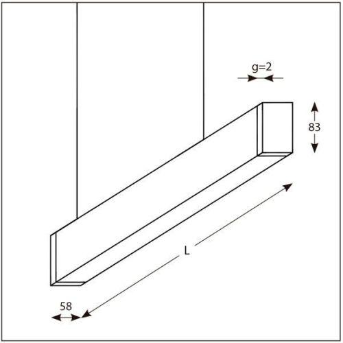 Lámpara Lineal para iluminación de oficinas