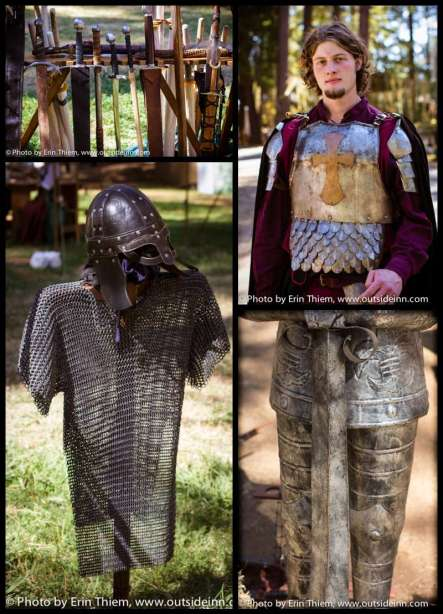 Armour, knights at Celtic Festival