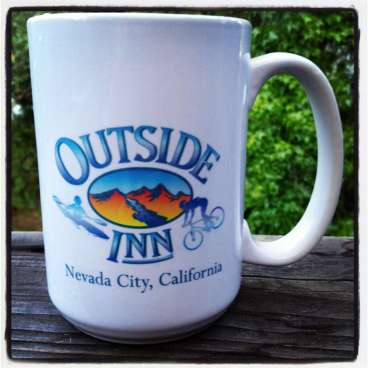 Outside Inn coffee mug