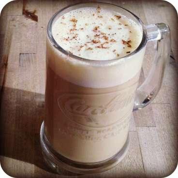 Carolines Coffee Roasters latte