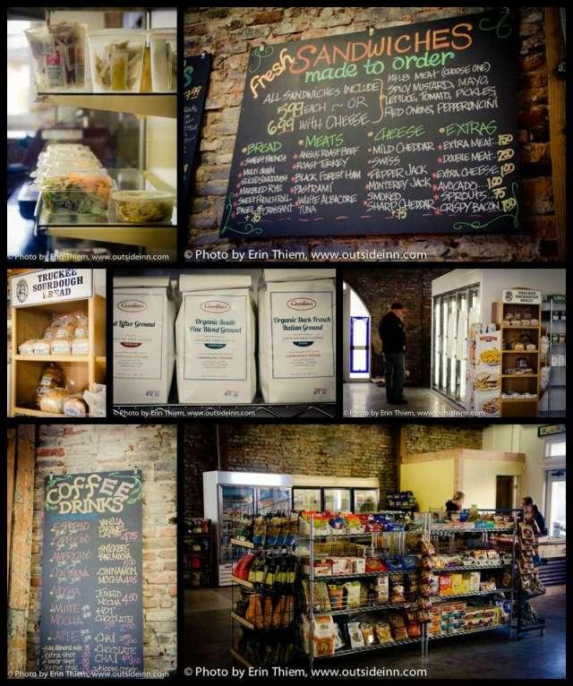 Nevada City Harmony Ridge Market, Carolines Coffee, lunch, sandwiches, food and drinks
