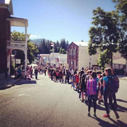 Nevada City Children Reading Parade