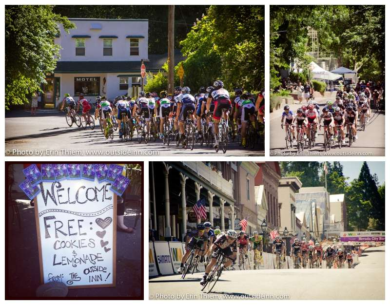 Nevada City Classic Bicycle Race, Outside Inn Motel on race course