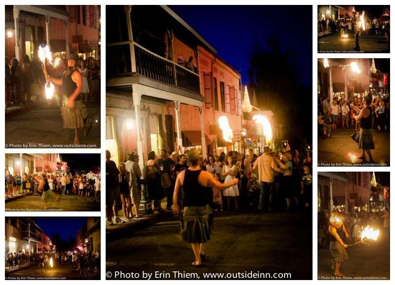 Nevada City First Friday Art Walk fire throwing photos
