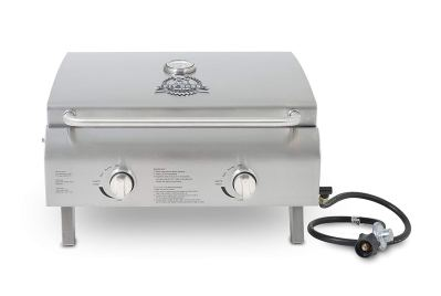 Pit Boss Grills 75275 Stainless Steel Two-Burner Portable Grill