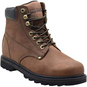 EVER BOOTS Tank Men Soft Toe Oil Full Grain Leather Insulated Work Boots