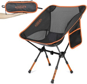 G4Free Upgraded Height Adjustable Camping Chairs