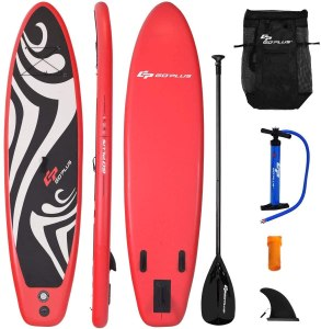 Goplus Inflatable Beginner Surfboard