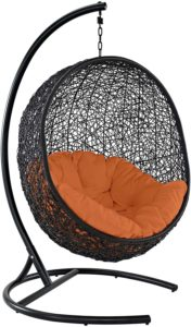 Modway Outdoor Porch Patio Lounge Egg