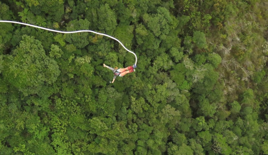 Adventures on the garden route bungee jump