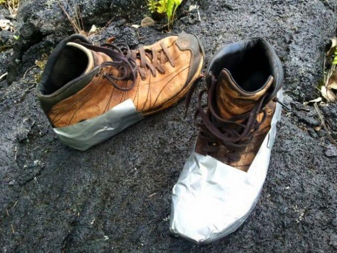 gaffer tape hiking boot repair