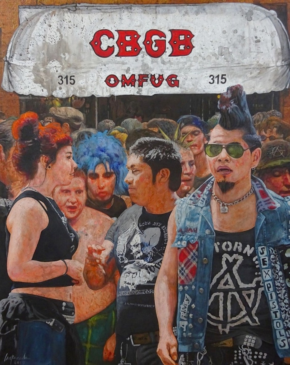 "CBGB Medium Acrylic on Canvas Size 20""x 30"""
