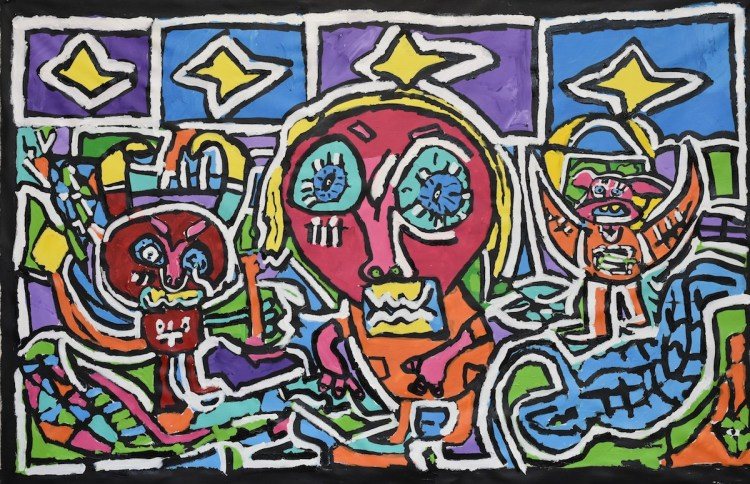 between heaven and hell Medium Acrylic on canvas Size 130 x 205 cm