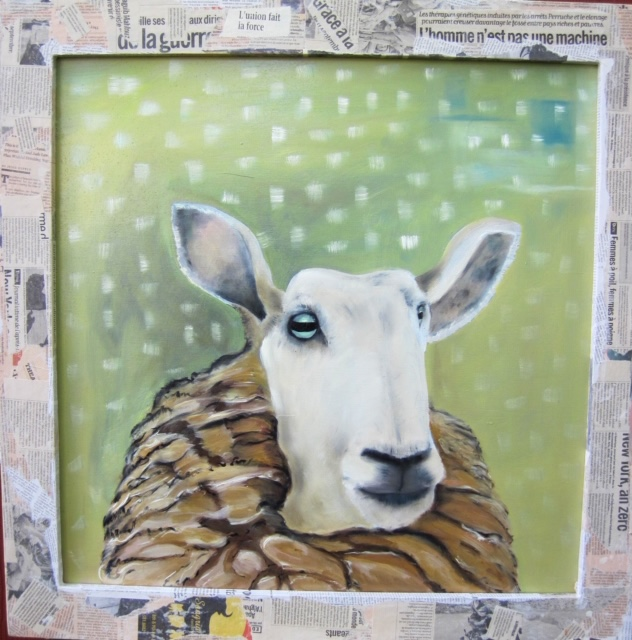 """A Sheep in Goat's Clothing Medium Oil on Canvas Size 20""""x 24""""x1"""""""