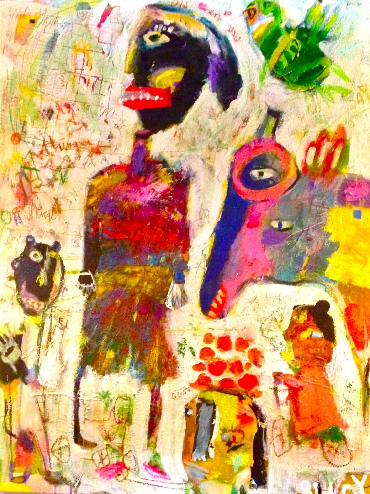 Bali Dreaming Medium acrylic, collage, oil pastel on canvas Size 30x40