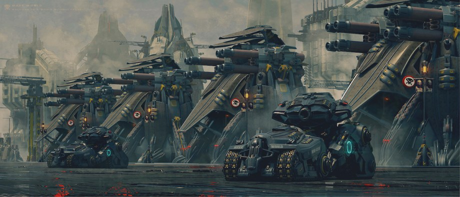 Tank and Heavy Cannon Medium Digital Art Size 3000×1285