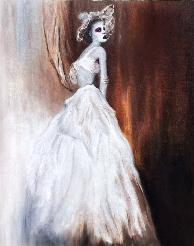 Bride Medium oil on canvas Size 5300x6713