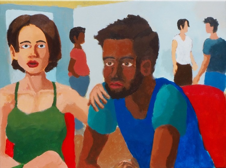 """""""A Seated Couple"""" 