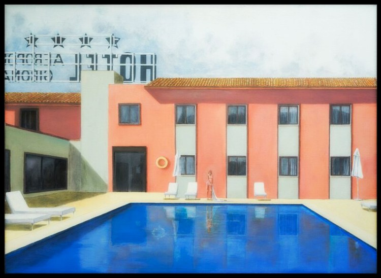 "Hotel Girona | Oil on canvas | 36"" x 30"""
