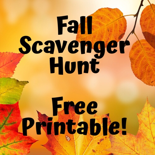 photo relating to Fall Scavenger Hunt Printable called Drop Scavenger Hunt Absolutely free PRINTABLE! Exterior the Box Pupils