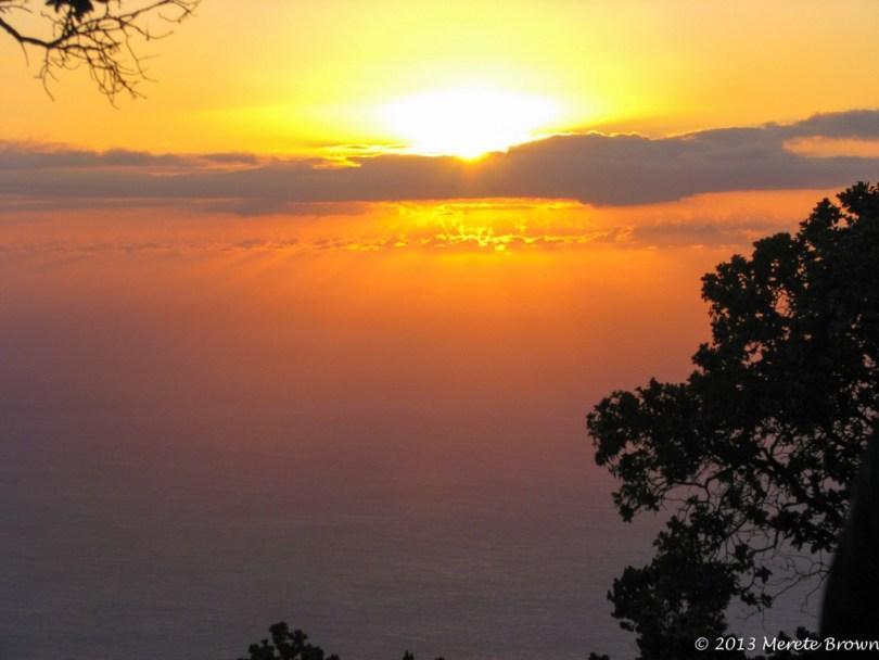 Sunset Waimea Canyon