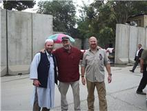 Dick Clinton, Randy and me Camp Eggers Afghanistan Aug 2010