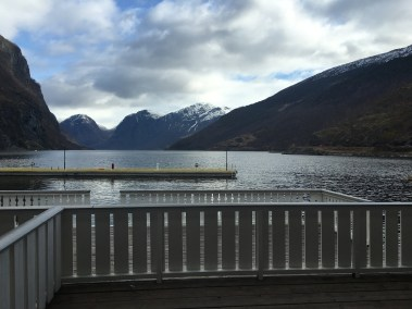 View of the fjords from our kitchen window