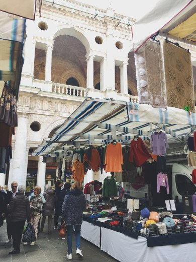 open air market of vicenza, italy