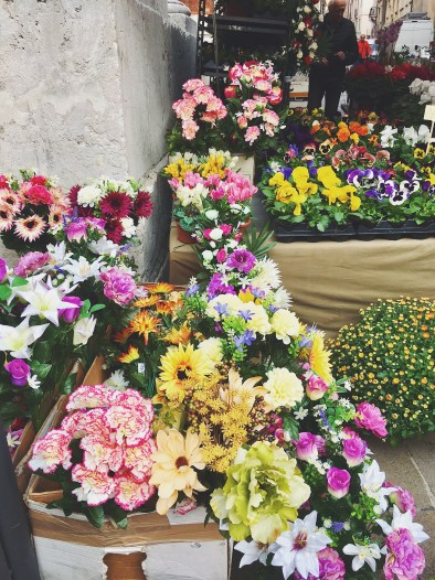 Vicenza market day flowers