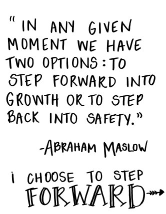 abraham maslow moving forward