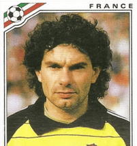French 'keeper Joel Bats from Mexico '86 Credit: OldSchoolPanini