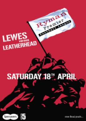 Lewes FC match day poster