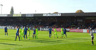 AFC Wimbledon action