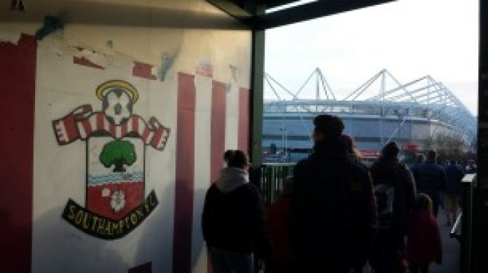 The approach to St. Mary's on match day