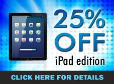 25 percent off iPad