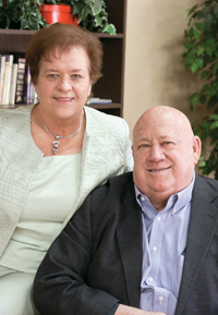 Cordell Mitchell with his wife, Odena