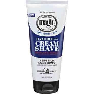 Magic Razorless Cream Shave Regular Strength (4oz)