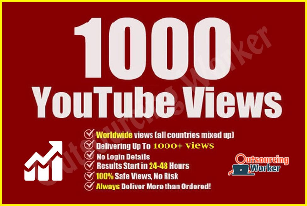 I Will Worldwide 1000 Youtube Video Views