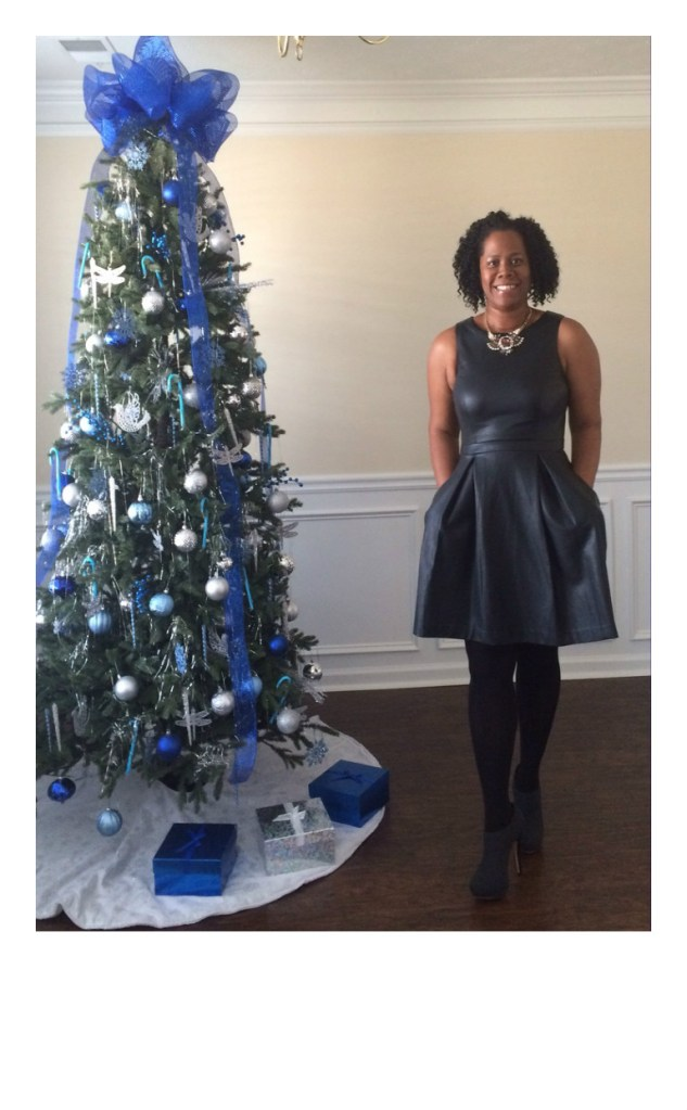 Blogger Style: Faux Leather Dress