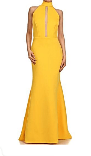 The Daily Find: Yellow Scuba Halter Dress