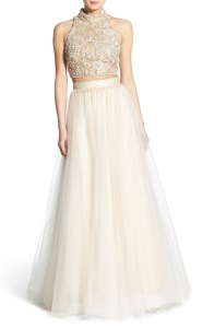 Terani Couture Embellished Top & Tulle Skirt Two-Piece Ballgown Buy Here