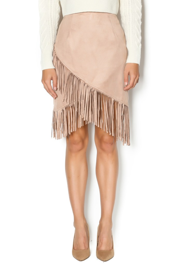 The Daily Find: Fringe Bottom Suede Skirt