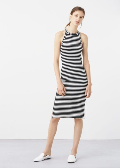 Mango Tailored ribbed dress $40