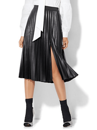 The Daily Find: Pleated Slit Skirt