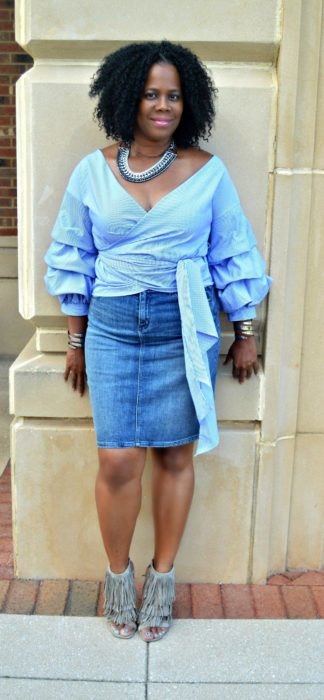 Blogger Style: Ruffle Sleeve Top