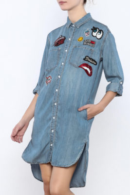 The Daily Find: Patches Tencel Shirt Dress